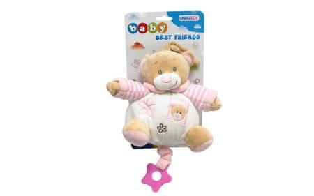 Unikatoy Ge. medo baby na poteg, roza, 25297