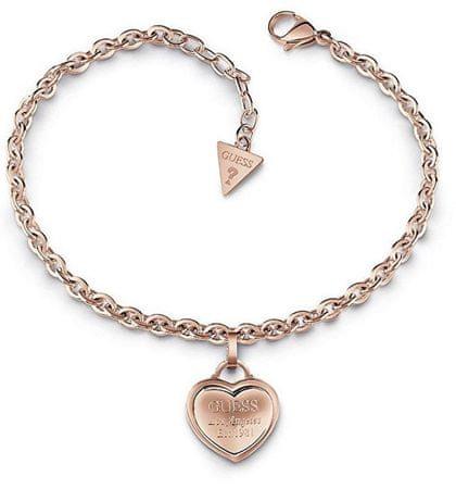 9a57de3be Guess Bronz karkötő szív kiegészítővel UBB28026-S