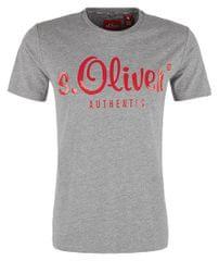 s.Oliver Męska koszulka 13.901.32.4004 .9222 MediumGrey Melange