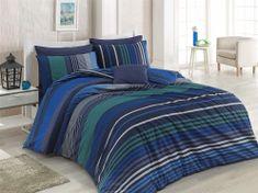 BedTex posteljnina Marley modra, 140×200 / 70×90 cm