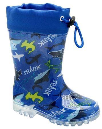 KTR chlapecké holínky se žraloky 24 modrá