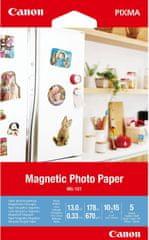 Canon magnetický fotopapír MG-101,magnetický fotopapír MG-101, 10x15 cm, 5 ks (3634C002) 4x6 cm, 5 ks (3634C002)