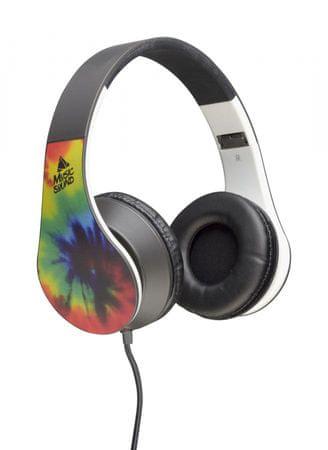 CellularLine slušalice s kabelom Music Sound, uzorak dugine boje