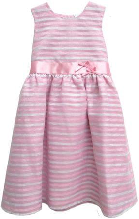 Topo sukienka dziewczęca w paski 98 różowa