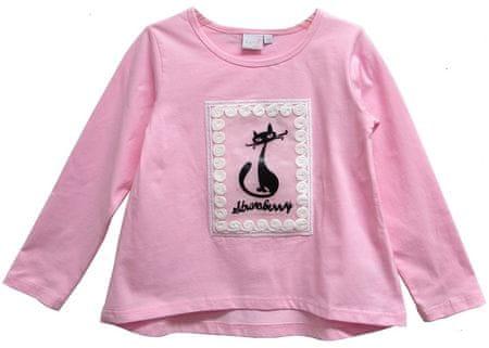 Topo dievčenské tričko s mačičkou 92 ružová