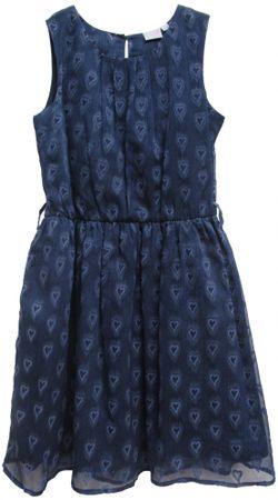 Topo dekliška obleka, 116, modra