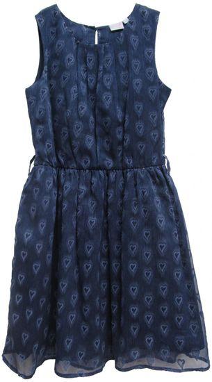 Topo dívčí šaty se srdíčky 116 modrá