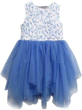 Topo dívčí šaty s tylovou sukní 92 modrá