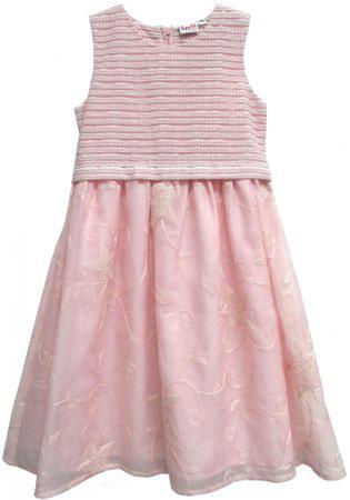 Topo dívčí šaty s výšivkou 92 růžová