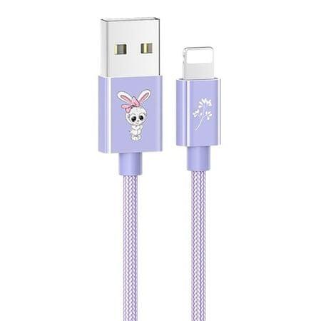 USAMS podatkovni kabel z zajčkom SJ234, vijoličen