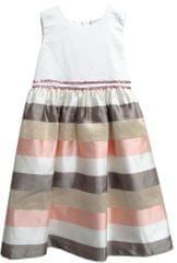 Topo dekliška obleka s črtastim krilom