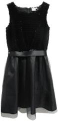 Topo dievčenské šaty s flitrami