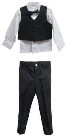 Topo garnitur chłopięcy z muszką 98 czarny