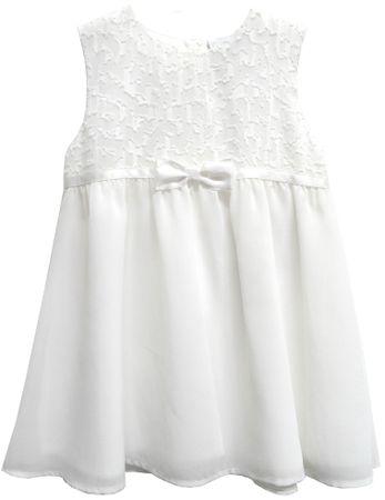 Topo dievčenské šaty s mašľou 68 biela