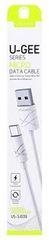 USAMS podatkovni kabel microUSB U-Gee White (EU Blister) 29798