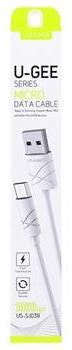 USAMS Datový Kabel microUSB U-Gee White (EU Blister) 29798