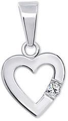 Brilio Silver Romantický prívesok Srdce s kryštálom 446 001 00367 04 striebro 925/1000