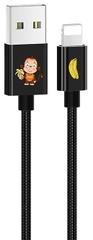 USAMS SJ234 U8 Lovely Lightning Datový Kabel Black (EU Blister) 2440132