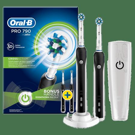 Oral-B električna zubna četkica PRO790 DUO CrossAction, set