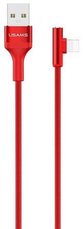 USAMS podatkovni kabel SJ260 Lightning Ring Angle Red (EU Blister) 2441592