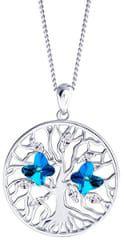 Preciosa Srebrna ogrlica s kristali Drevo življenja 6072 46 (veriga, obesek) srebro 925/1000