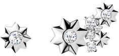 Preciosa Asymetrické hvězdičkové náušnice Orion 5274 00L stříbro 925/1000
