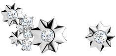 Preciosa Asymetrické hviezdičkové náušnice Orion 5274 00P striebro 925/1000