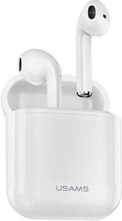 USAMS słuchawki bezprzewodowe Bluetooth LC Dual Stereo Wireless Headset vs 5.0 White 2441144
