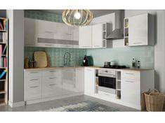 Rohová kuchyně COLBY 245x240 cm, bílý lesk