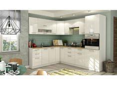 Rohová kuchyně COLBY 215x250 cm, bílý lesk