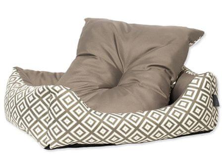 Dog Fantasy Sofa etno hnedé veľ. XS