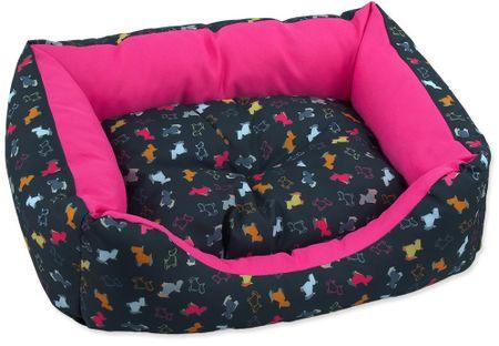 Dog Fantasy Sofa origami pes mix čierno-ružová veľ. XS