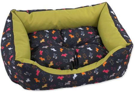 Dog Fantasy Sofa origami kutyapárna zöld-fekete mix méretei: XS