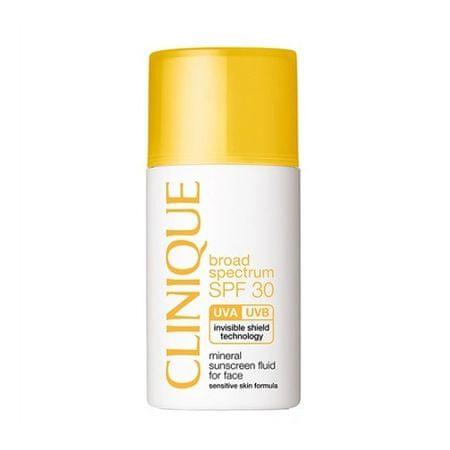 Clinique Minerálne opaľovacie fluid na tvár SPF 30 ( Mineral Sunscreen Fluid For Face) 30 ml
