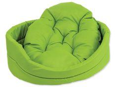 Dog Fantasy Pelech ovál s vankúšom zelený
