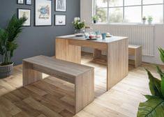 FARELA Jedálenský stôl + 2 lavice Rome (súprava 3 ks), dub