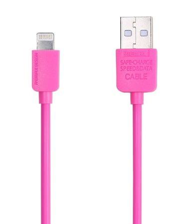 REMAX Adatkábel villámcsatlakozóval iPhone 5/6 AA-1103 számára, 1m - Pink