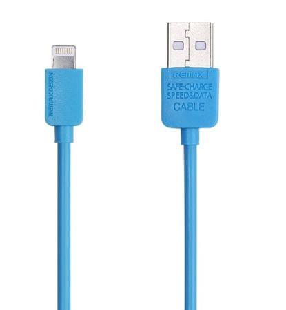 REMAX Datový kabel s Lightning konektorem pro iPhone 5/6 AA-1104, 1 m - modrý