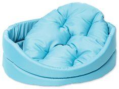 Dog Fantasy postelja za psa s turkizno blazino