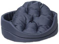 Dog Fantasy postelja za psa s temno modro blazino