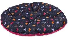 Dog Fantasy Polštář origami pes mix černo-růžový