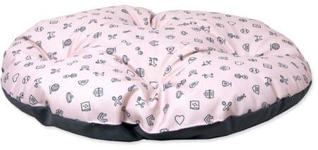Dog Fantasy poduszka dla psa piktogram różowy, XL