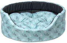 Dog Fantasy ovalna blazina za psa, turkizna