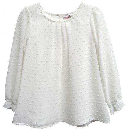 Topo dievčenská vzorovaná blúzka 92 biela