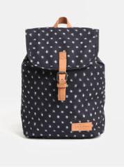 Eastpak tmavě šedý dámský vzorovaný batoh s koženými detaily Aminimal 10.5 l