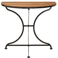 Butlers Balkónový skládací stolek - hnědá/černá