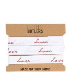 Butlers Stuha LOVE - bílá