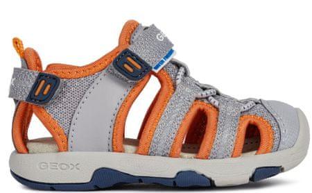 Geox chlapecké sandály Multy 22 šedá