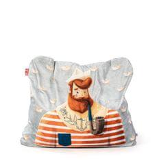 TULI Sedací vak Funny polyester vzor námorník