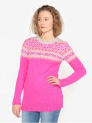 Oasis růžový vzorovaný svetr Fairisle